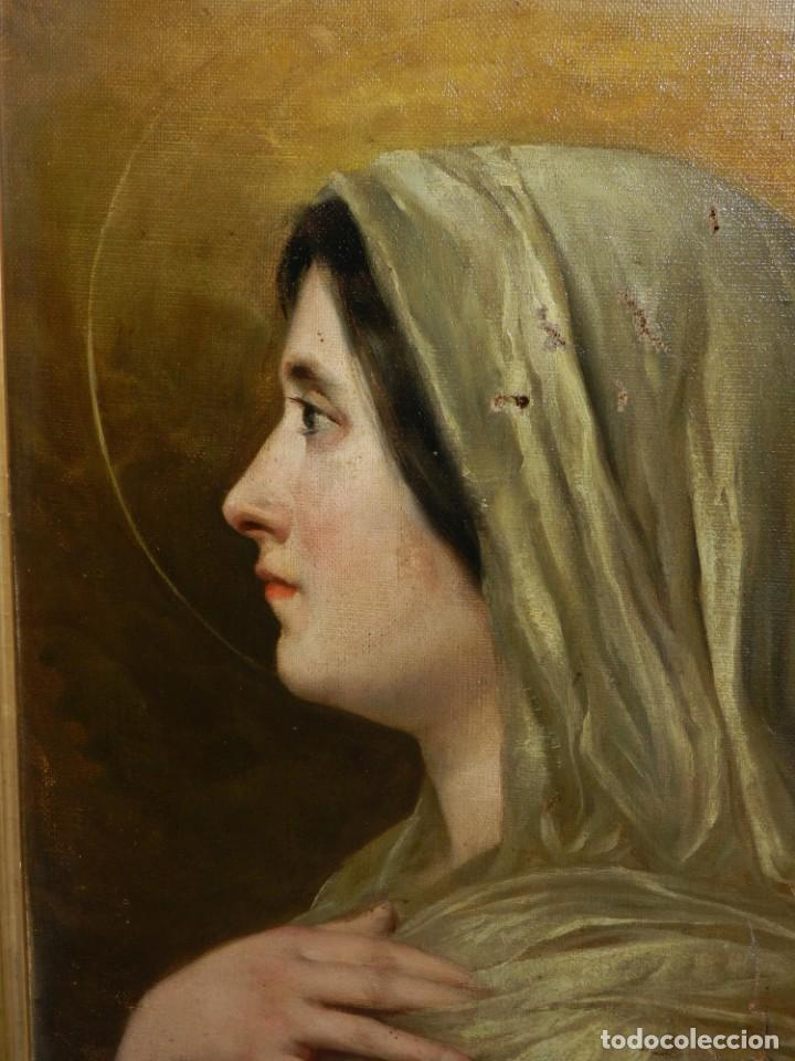 Arte: (M) RICARDO BRUGADA Y PANIZO , BARCELONA 1867 - 1919 , ÓLEO RELIGIOSO S.XIX , ENMARCADO - Foto 3 - 159111454