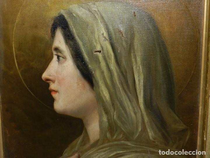 Arte: (M) RICARDO BRUGADA Y PANIZO , BARCELONA 1867 - 1919 , ÓLEO RELIGIOSO S.XIX , ENMARCADO - Foto 4 - 159111454