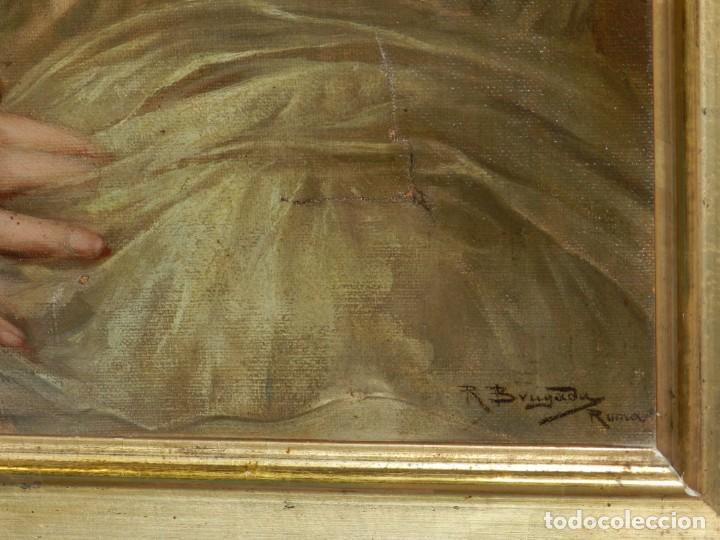 Arte: (M) RICARDO BRUGADA Y PANIZO , BARCELONA 1867 - 1919 , ÓLEO RELIGIOSO S.XIX , ENMARCADO - Foto 7 - 159111454