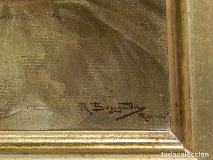 Arte: (M) RICARDO BRUGADA Y PANIZO , BARCELONA 1867 - 1919 , ÓLEO RELIGIOSO S.XIX , ENMARCADO - Foto 8 - 159111454