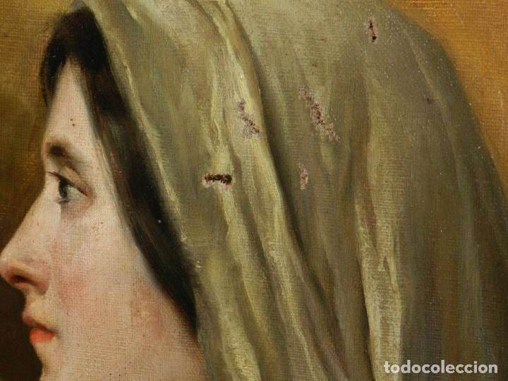 Arte: (M) RICARDO BRUGADA Y PANIZO , BARCELONA 1867 - 1919 , ÓLEO RELIGIOSO S.XIX , ENMARCADO - Foto 9 - 159111454