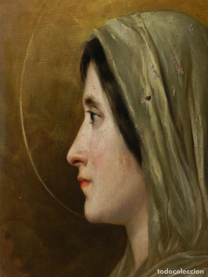 Arte: (M) RICARDO BRUGADA Y PANIZO , BARCELONA 1867 - 1919 , ÓLEO RELIGIOSO S.XIX , ENMARCADO - Foto 10 - 159111454