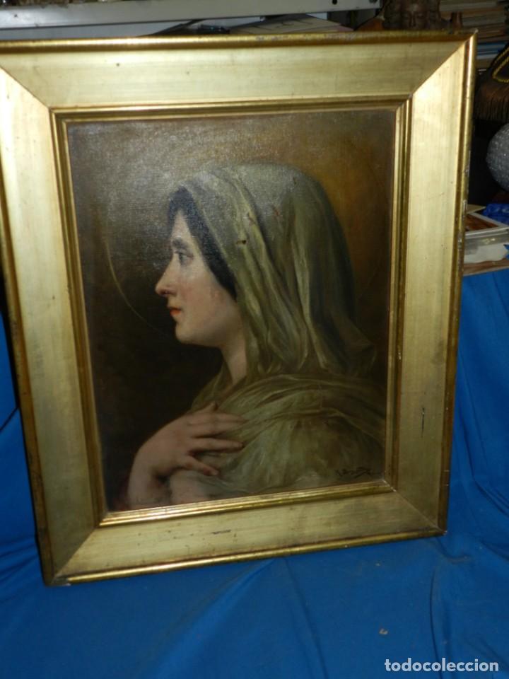 Arte: (M) RICARDO BRUGADA Y PANIZO , BARCELONA 1867 - 1919 , ÓLEO RELIGIOSO S.XIX , ENMARCADO - Foto 11 - 159111454