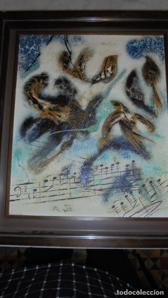 Arte: (M) DAU AL SET - JOAN JOSEP THARRATS 1918-2001 OLEO SOBRE LIENZO TEMA DE MUSICA ENMARCADO - Foto 2 - 159119766