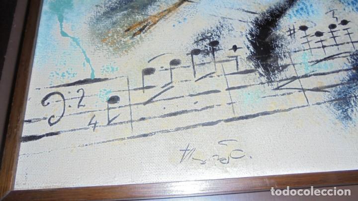 Arte: (M) DAU AL SET - JOAN JOSEP THARRATS 1918-2001 OLEO SOBRE LIENZO TEMA DE MUSICA ENMARCADO - Foto 3 - 159119766
