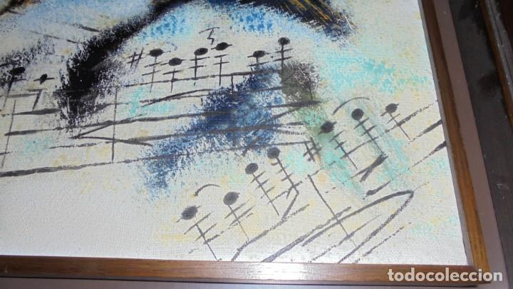 Arte: (M) DAU AL SET - JOAN JOSEP THARRATS 1918-2001 OLEO SOBRE LIENZO TEMA DE MUSICA ENMARCADO - Foto 4 - 159119766