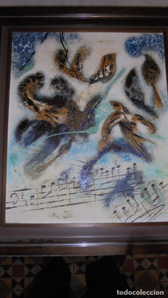 Arte: (M) DAU AL SET - JOAN JOSEP THARRATS 1918-2001 OLEO SOBRE LIENZO TEMA DE MUSICA ENMARCADO - Foto 9 - 159119766