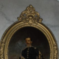 Arte: (M) MILITAR - ANTIGUO LIENZO PINTADO AL OLEO MILITAR ESPAÑOL S. XIX CON SU MARCO DE EPOCA (MARCO. Lote 159196870