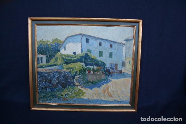 SEBASTIA CONGOST ( OLOT,1919 - 2009 ) ESTUPENDO OLEO SOBRE TABLEX. 45 X 37. CTM , FIRMADO (Arte - Pintura - Pintura al Óleo Contemporánea )