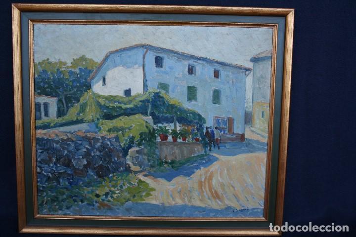Arte: SEBASTIA CONGOST ( OLOT,1919 - 2009 ) ESTUPENDO OLEO SOBRE TABLEX. 45 X 37. CTM , FIRMADO - Foto 4 - 159202238