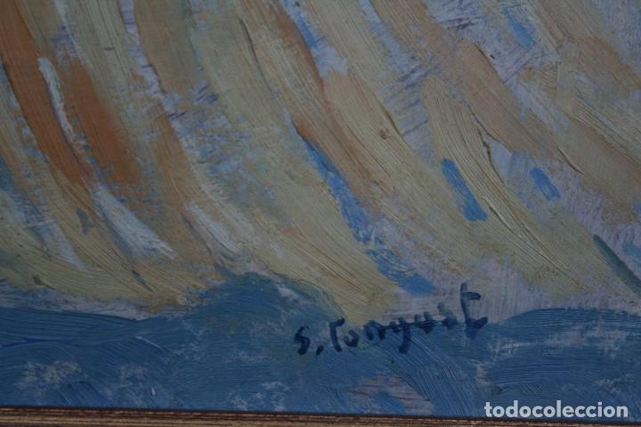 Arte: SEBASTIA CONGOST ( OLOT,1919 - 2009 ) ESTUPENDO OLEO SOBRE TABLEX. 45 X 37. CTM , FIRMADO - Foto 5 - 159202238