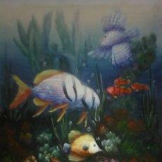 Arte: PRECIOSA PINTURA. ÓLEO PECES TROPICALES.. Lote 159243513
