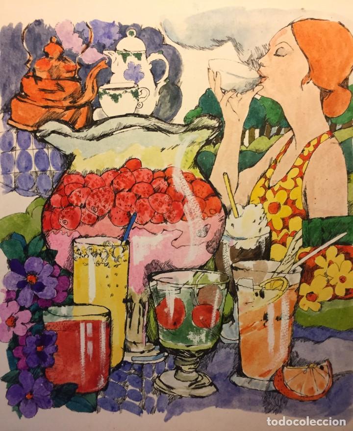 ARJE, CATALOGADO, 30X29 CMS. BEBIDAS (Arte - Pintura - Pintura al Óleo Contemporánea )