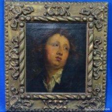 Arte: EXCELENTE ÓLEO SOBRE TELA DE SACO DEL S. XVIII.GRAN CALIDAD.MAESTRO.RETRATO.ANONIMO.MARCO DE ÉPOCA.. Lote 159443610