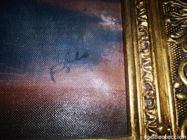 Arte: Precioso y antiguo bodegón en oleo sobre lienzo con firma a identificar. bonito marco - Foto 4 - 159447293