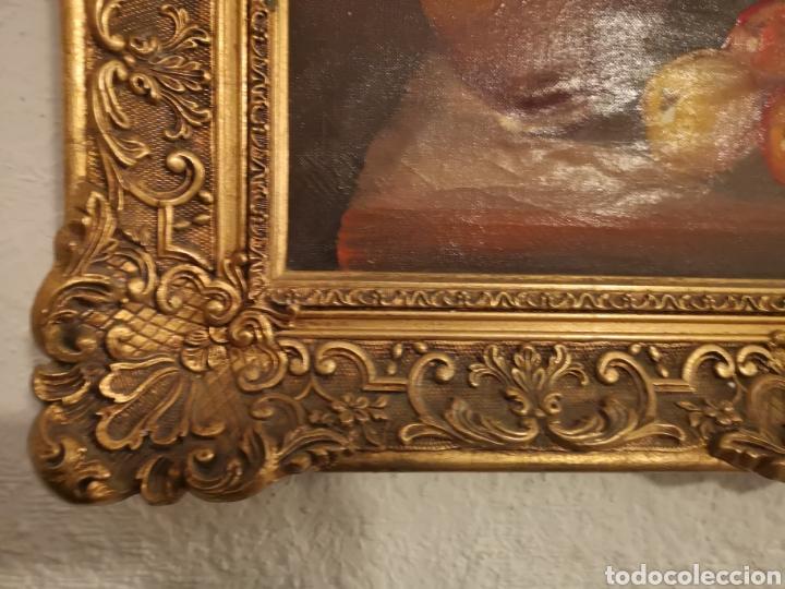 Arte: Precioso y antiguo bodegón en oleo sobre lienzo con firma a identificar. bonito marco - Foto 6 - 159447293