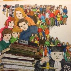 Arte: ARJÉ, OBRA ORIGINAL, CATALOGADA Y SELLADA, APROX. 30X28 CMS.. Lote 159477794