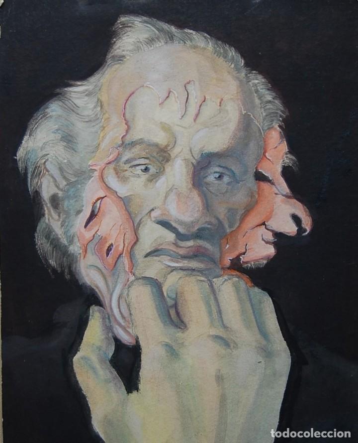 OBRA ORIGINAL EXPRESIONISTA (1950'S) . ¡ IMPACTANTE ! (Arte - Pintura - Pintura al Óleo Moderna sin fecha definida)
