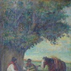 Arte: PINTURA ORIGINAL SIGLO XIX : GAUCHOS (ARGENTINA, URUGUAY, PARAGUAY, BRASIL). Lote 159497150