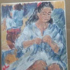 Arte: CHICA EN CAMISÓN ORIGINAL. Lote 159508110