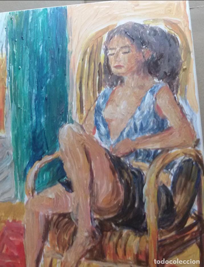 Arte: Chica descansando original - Foto 2 - 159509258