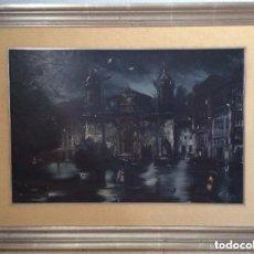 Arte: IGLESIA DE SAN NICOLÁS DE BILBAO,ÓLEO SOBRE LIENZO FIRMADO CALBERT(GRIFELL 1ª ÉPOCA). Lote 159515874
