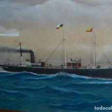 Arte: (M) CUADRO OLEO BARCO NAVIERA AMPURDANES , SIGLO XIX , SIN FIRMAR , 85X59 CM. Lote 159554078