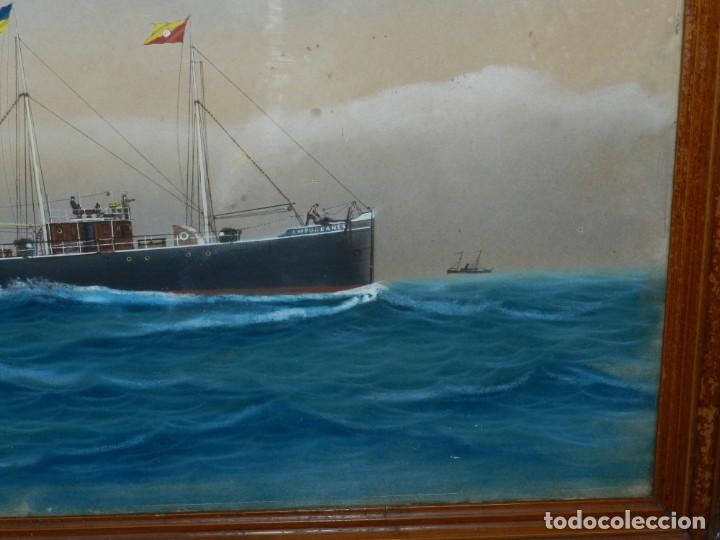 Arte: (M) CUADRO OLEO BARCO NAVIERA AMPURDANES , SIGLO XIX , SIN FIRMAR , 85X59 CM - Foto 5 - 159554078