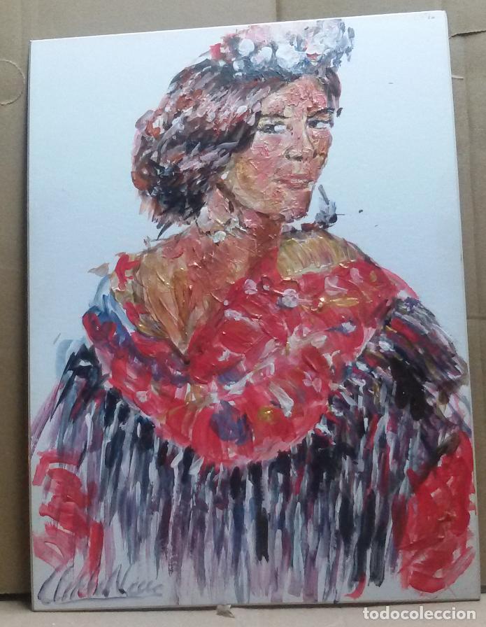 Arte: Mujer sevillana original - Foto 2 - 159593122