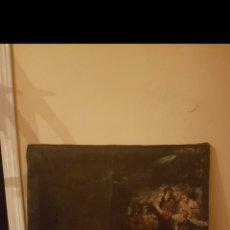 Arte: ANTIGUO E INTERESANTE CUADRO COSTUNBRISTA. Lote 159652044