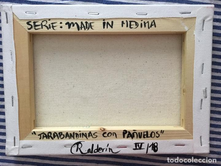 Arte: Pintura figurativa títulada JARABANDINAS CON PAÑUELOS serie Made in Medina de Ruth Calderin - Foto 4 - 113693623