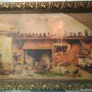Arte: AÑO 1882 - ANTIGUO ÓLEO SOBRE LIENZO FIRMADO.MARCO CON PAN DE ORO. Lote 159703740