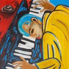 Arte: INTERESANTE Y ATRACTIVA PINTURA ORIGINAL MUSICO, SIN FIRMA.. Lote 159735596