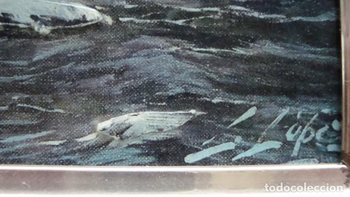 Arte: Pintura en relieve Barco. Firmada. - Foto 3 - 159741866