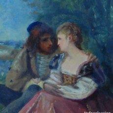 Arte: CUADRO OLEO PINTURA FRANCESA ANTIGUA ESCENA GALANTE MUSEO SIGLO XIX FIRMADO. Lote 159773678