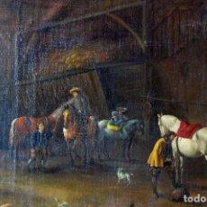 Arte - CUADRO OLEO PINTURA ANTIGUA SIGLO XIX COPIA DE PHILIPS WOUWERMAN - 159778110