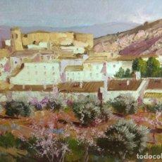 Arte: CUADRO OLEO SOBRE LIENZO FIRMADO Y TITULADO POR RAFAEL FUSTER ANTIGUO CON IMPORTANTE MARCO. Lote 159848222