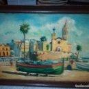 Arte: ANTIGUO CUADRO DIRIA AL OLEO * FIRMA DE FERRER * MEDIDAS MARCO 90 X 63 CM. Lote 159860622