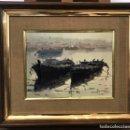 Arte: PAREJA DE BARCAS EN EL PUERTO, SEGRELLES. Lote 159897918
