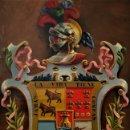 Arte: EXCEPCIONAL ESCUDO DE ARMAS DE LOS MARQUESES DE ARGÜESO. Lote 159898626