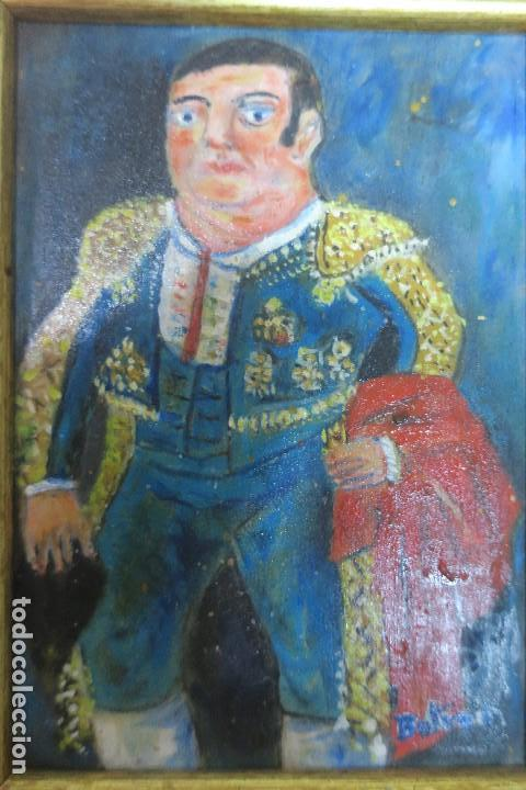 FERNANDO BOTERO. MATADOR EN AZUL (1991). ÓLEO SOBRE TABLA. (Arte - Pintura - Pintura al Óleo Contemporánea )