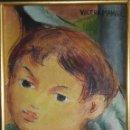 Arte: NIÑO. ÓLEO SOBRE LIENZO. VÍCTOR MANUEL GARCÍA. VANGUARDIA PINTURA CUBANA. FIRMADO. AÑOS 1960.. Lote 160062602
