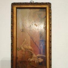 Arte: PEQUEÑO CUADRO OLEO FIRMADO 1895. Lote 160064965