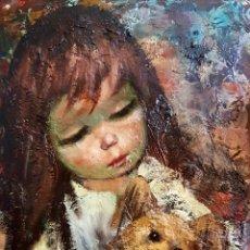 Arte: ABRUZZI (HAROLD STEPHENSON, OHIO 1908-HOLLYWOOD 1974) PRECIOSA PINTURA VINTAGE FIRMADA.. Lote 160100617