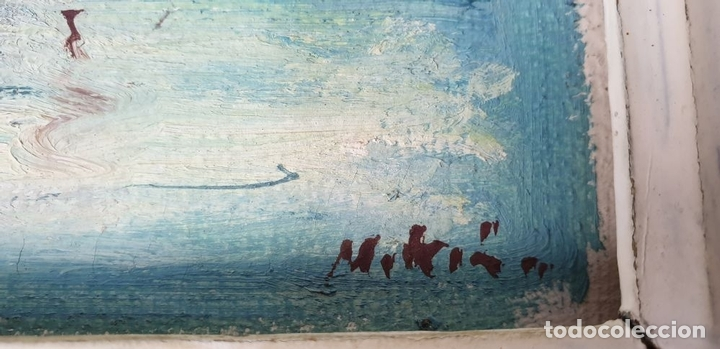 Arte: MARINA. ÓLEO SOBRE TABLA. FIRMADO MARTIN. SIGLO XX. - Foto 3 - 160258766