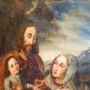 Arte: LA SAGRADA FAMILIA. ÓLEO SOBRE LIENZO. ESCUELA ESPAÑOLA. ESPAÑA. SIGLO XVII. Lote 160260190
