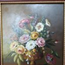 Arte: ESPECTACULAR BODEGÓN FLORAL DE 1890 - RAFAEL BLANCO MERINO (1864-1899) - SALIDA 1€ - GRAN VALOR. Lote 160270194