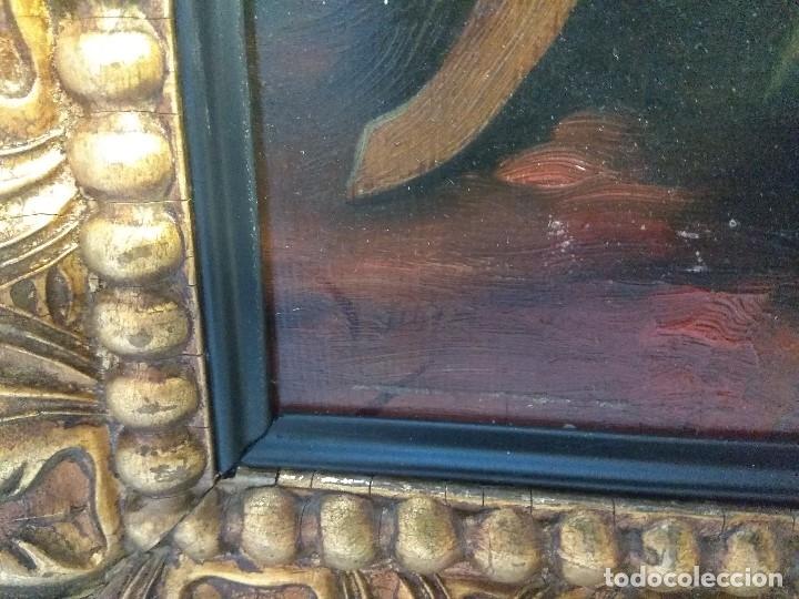Arte: CUADRO OLEO SOBRE TABLA FIRMADO DENIS MUY ANTIGUO MUJER SENTADA SIGLO XIX ESCUELA MALAGUEÑA - Foto 16 - 159423202