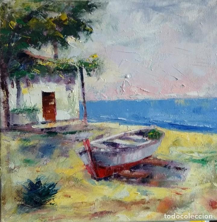 Arte: 2 Pinturas al Óleo.Marinas.Obra original de autor. - Foto 3 - 160327010