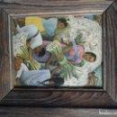 Arte: PINTURA RECOJIDO DE FLORES SIN FIRMA DE AUTOR . Lote 160424414